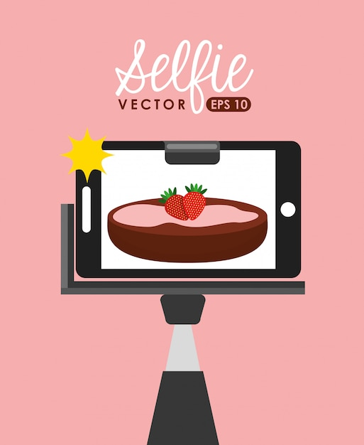 Photographic hobby design Premium Vector