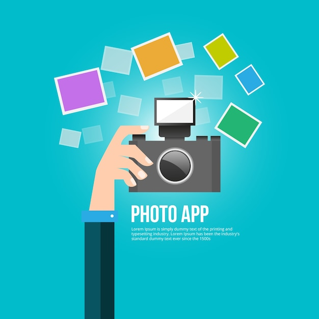 Photography app Free Vector