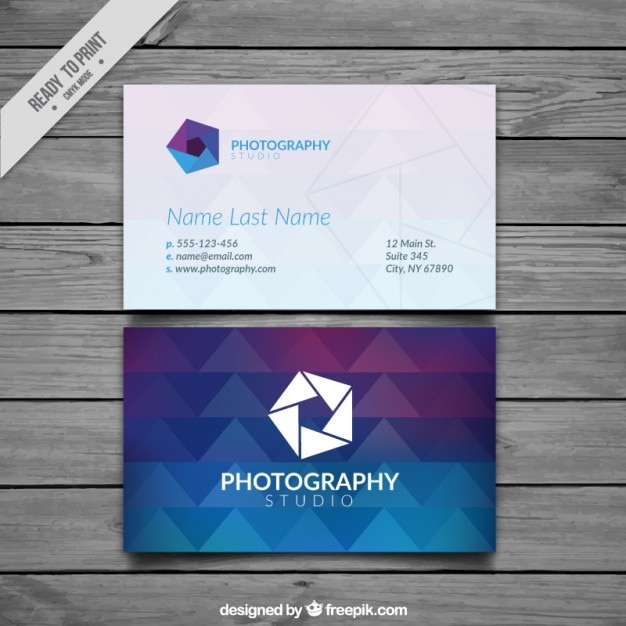 Photography business card full color vector free download photography business card full color free vector reheart Choice Image