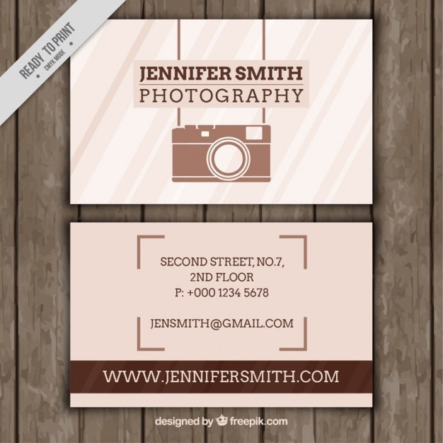 Photography business card with vintage elements vector free download photography business card with vintage elements free vector reheart Choice Image