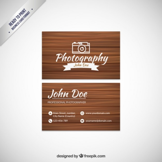 Photography business card with wood texture vector premium download photography business card with wood texture premium vector reheart Choice Image