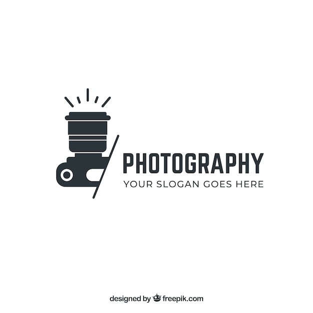 Wedding Photography Studio Logo: Photography Logo In Black Color Vector