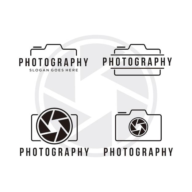 Photography logo template Premium Vector