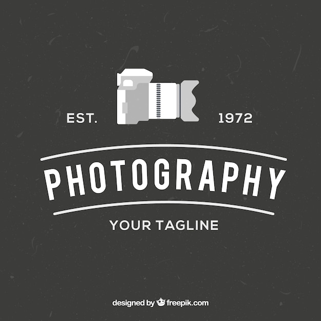 Photography logo with side view Free Vector
