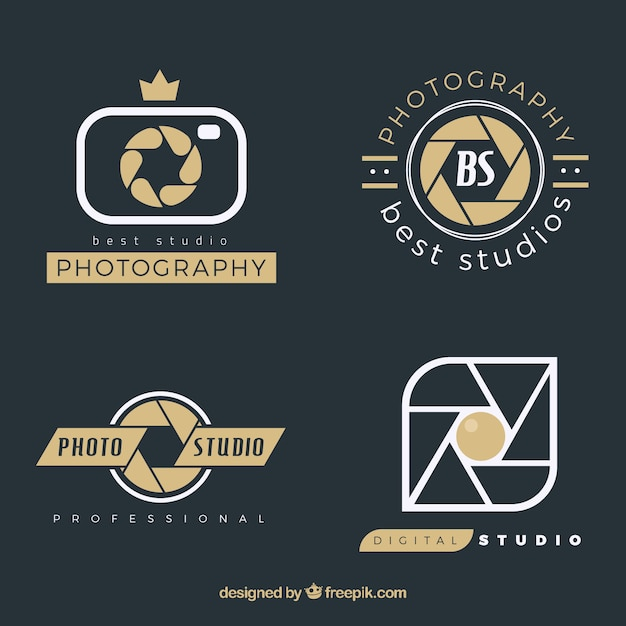 photography logos pack vector premium download