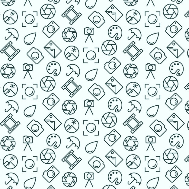 Photography pattern Free Vector