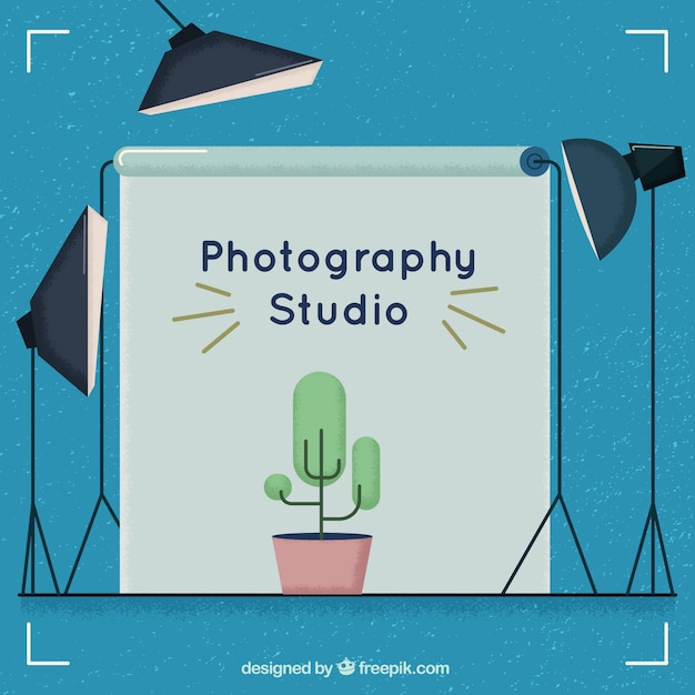 Photography studio in vintage style