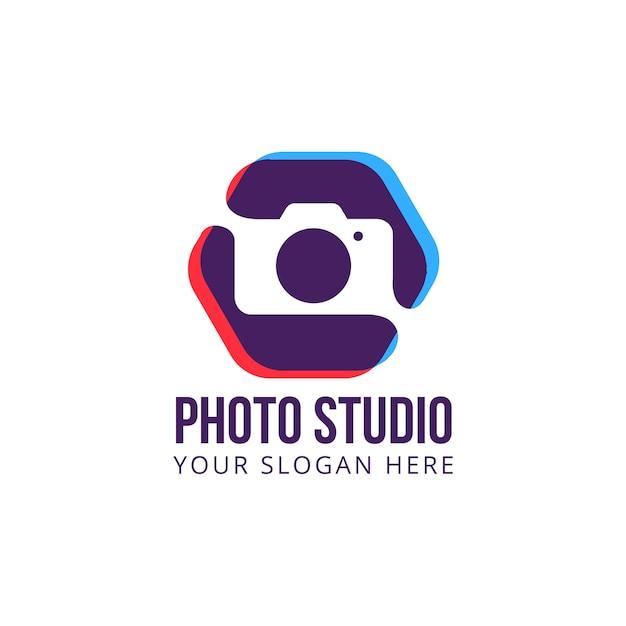 Photography studio logo vector camera Premium Vector