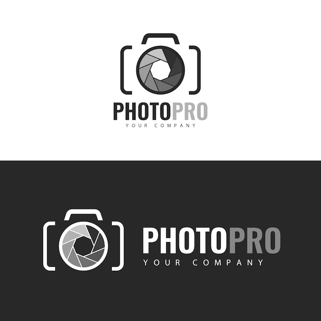 Логотип photopro template. Premium векторы