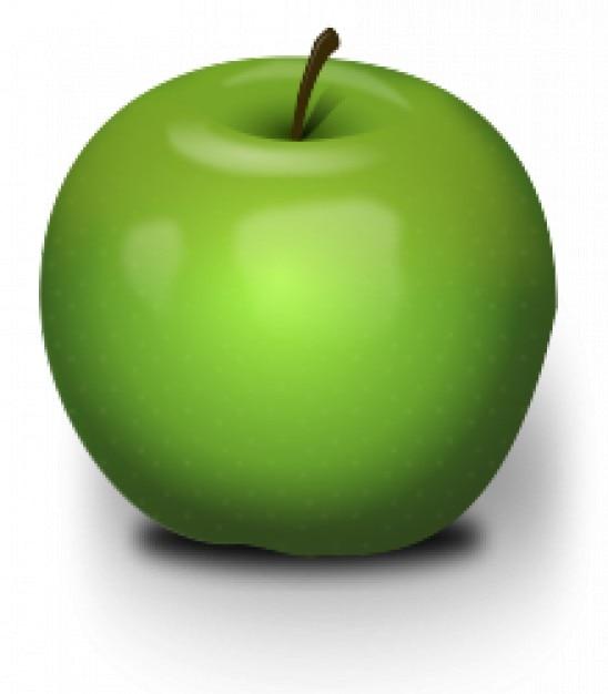 Photorealistic Green Apple