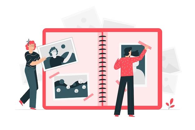 Фотографий концепция иллюстрации Бесплатные векторы
