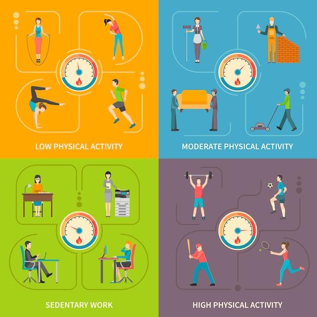 Concetto piano di attività fisica Vettore gratuito