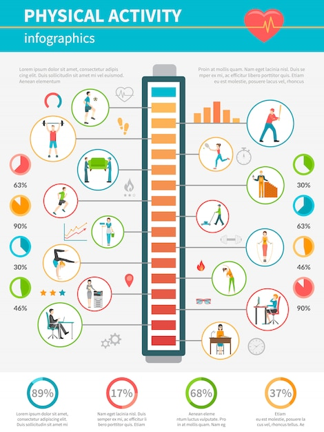 Physical activity infographic Free Vector