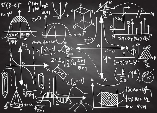 Physical formulas and phenomenon. Premium Vector
