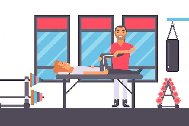 Физиотерапевтический массаж для травмированного спортсмена Premium векторы