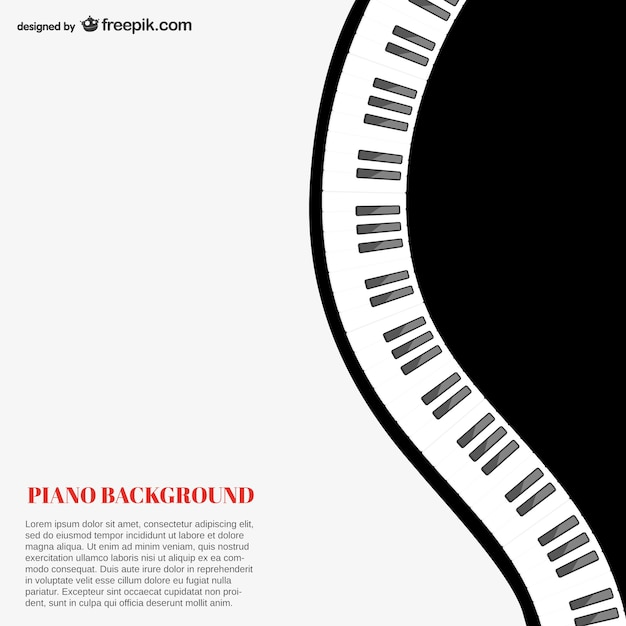 Piano Background Template Vector