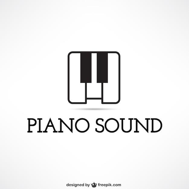piano sound logo vector premium download