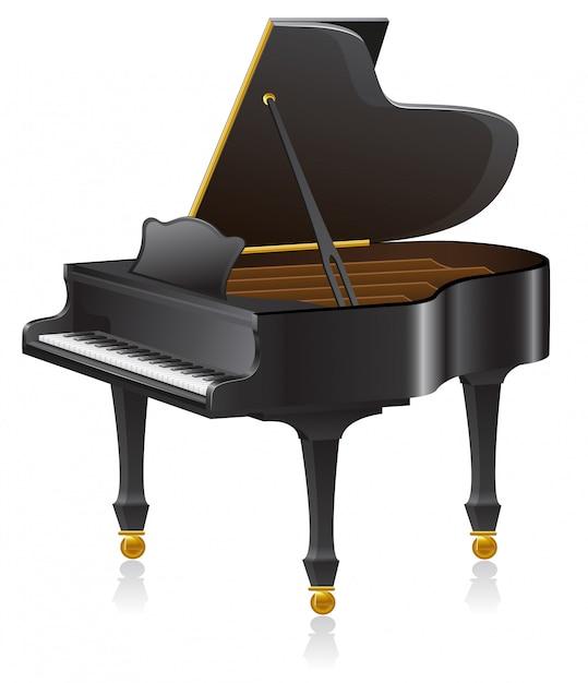 ピアノのベクトル図 Premiumベクター
