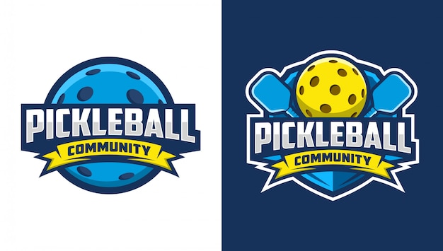 Pickleball community logo Premium Vector