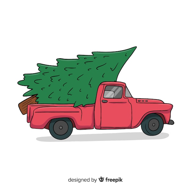 Free Christmas Tree Pick Up: Pickup Truck With Christmas Tree