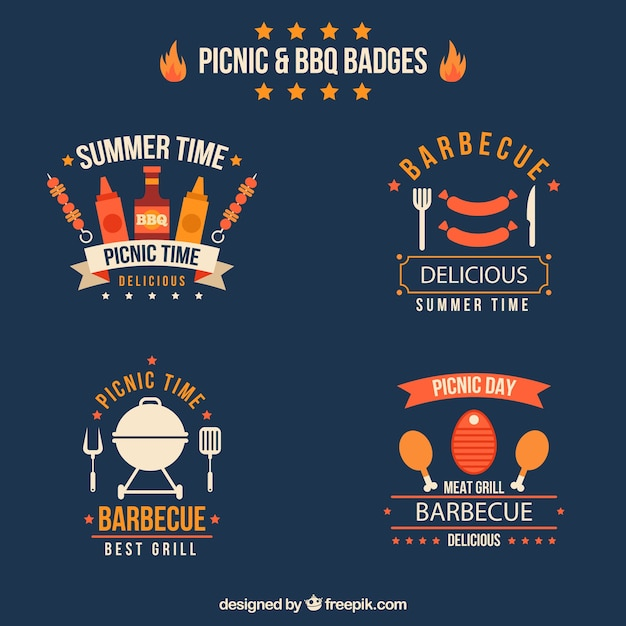 Picnic and bbq badges