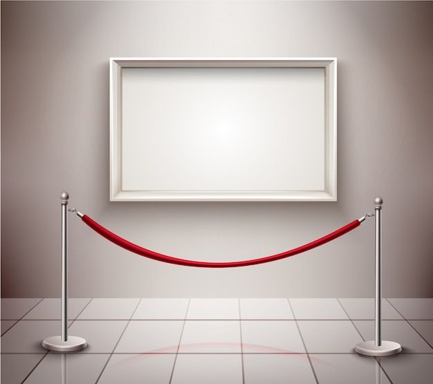 Picture on exhibition Free Vector