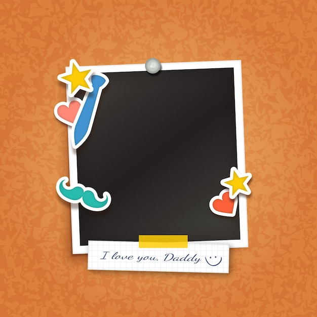 Picture Frame For Fathers Day Vector Free Download