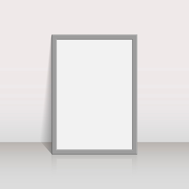 Picture frame on a white wall Premium Vector