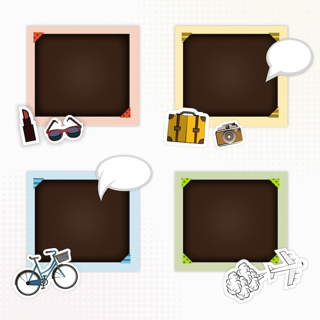 picture frames for scrapbook free vector - Download Picture Frames