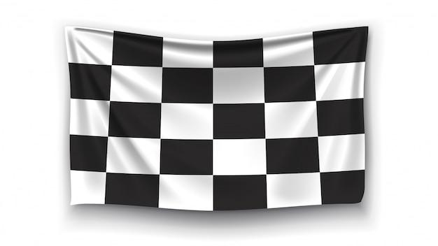 レース旗の写真 Premiumベクター