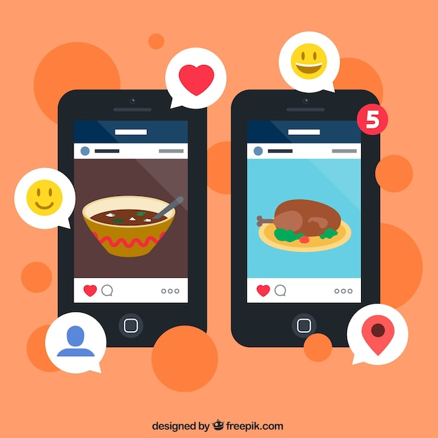 Pictures social media app Free Vector