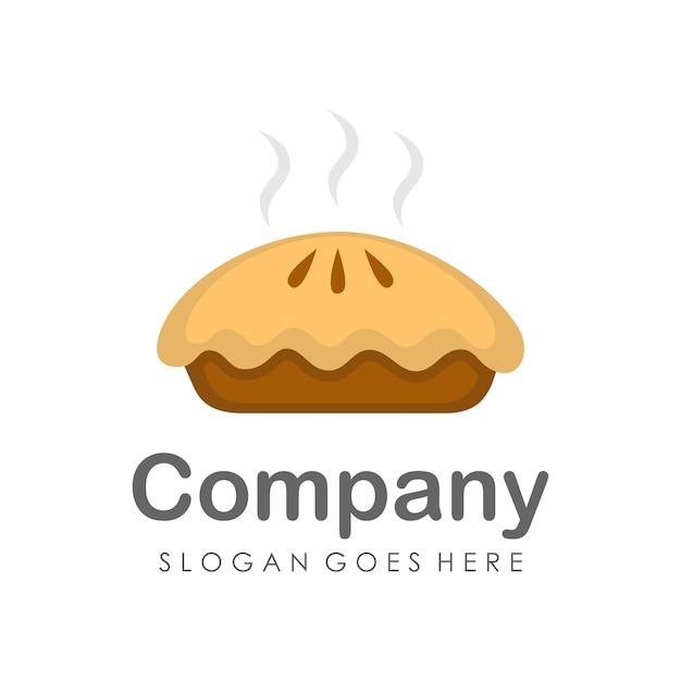 Pie cake logo and icon design template Vector   Premium Download