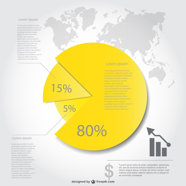 Pie Chart Infographic Design Vector Free Download
