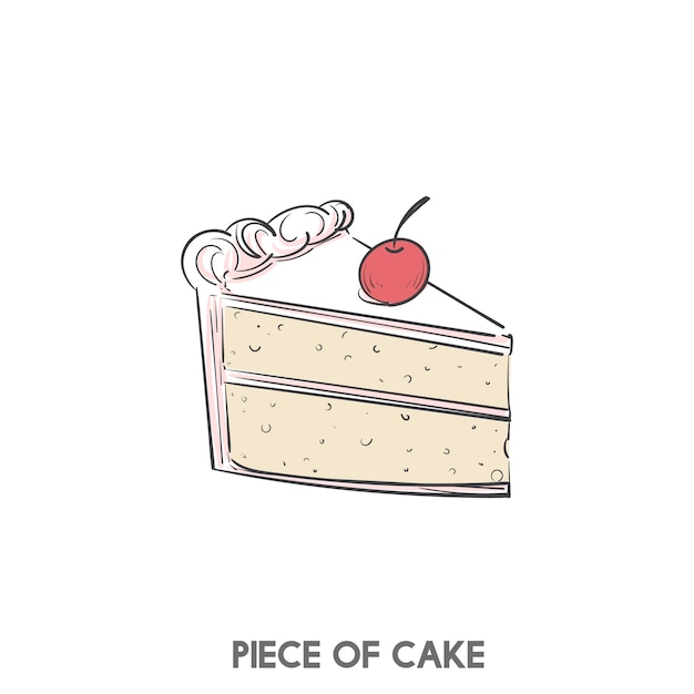 A piece of cake Free Vector