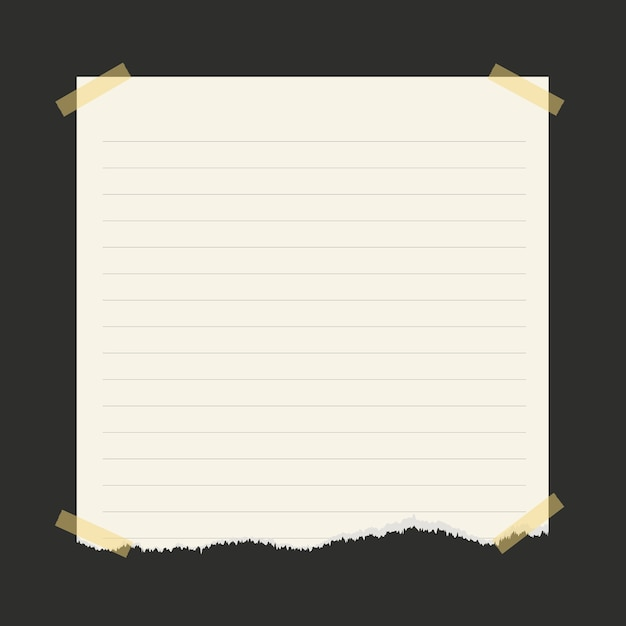 Wallpaper Lined Paper: Pieces Of Torn White Lined Notebook Paper On Dark
