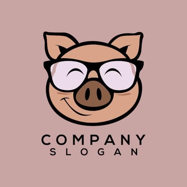 Pig logo vector Premium Vector