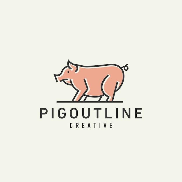 Pig logo Premium Vector