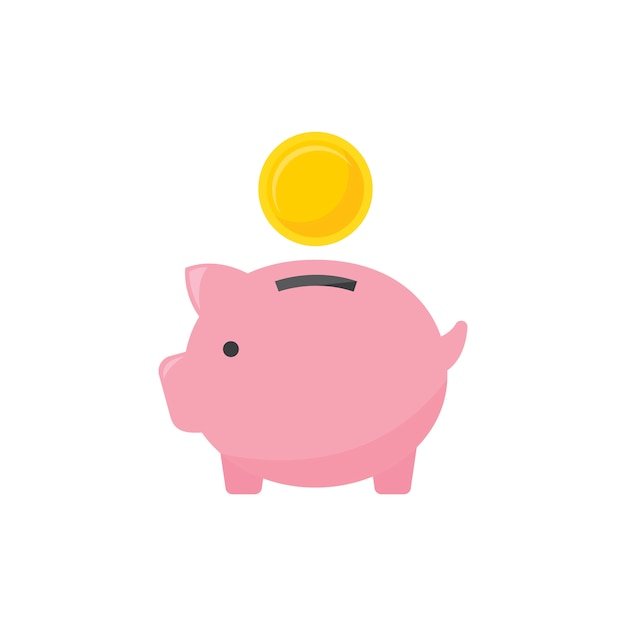 Piggy bank Free Vector
