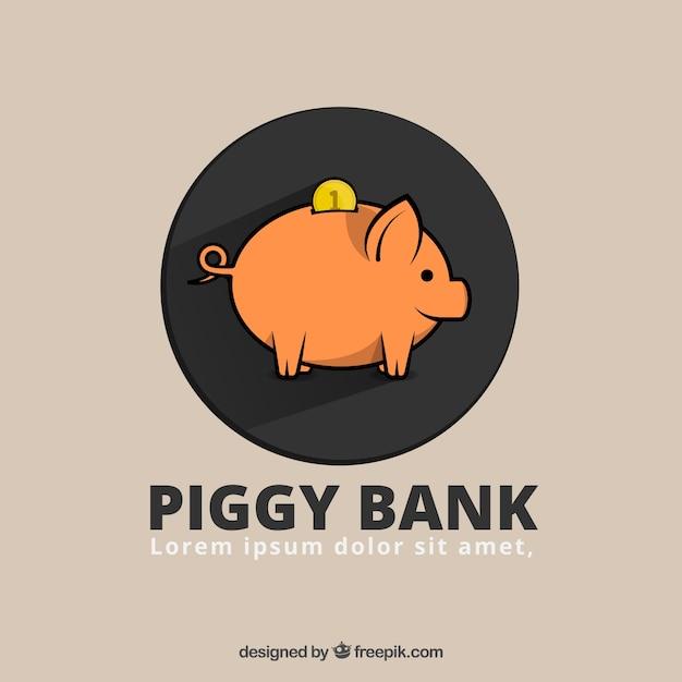 piggybank template vector free download