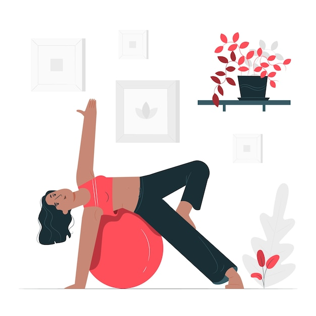 Pilates concept illustration Free Vector