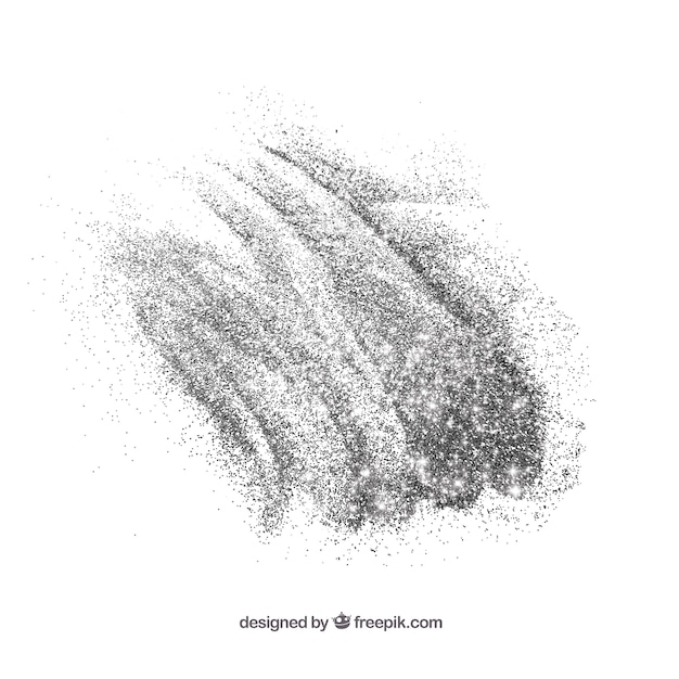 Pile of glitter in silver color Free Vector