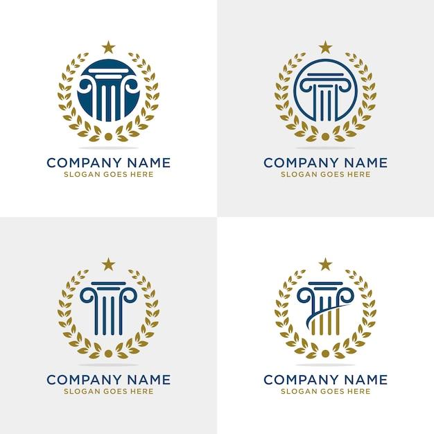 Pillar law firm logo template Premium Vector