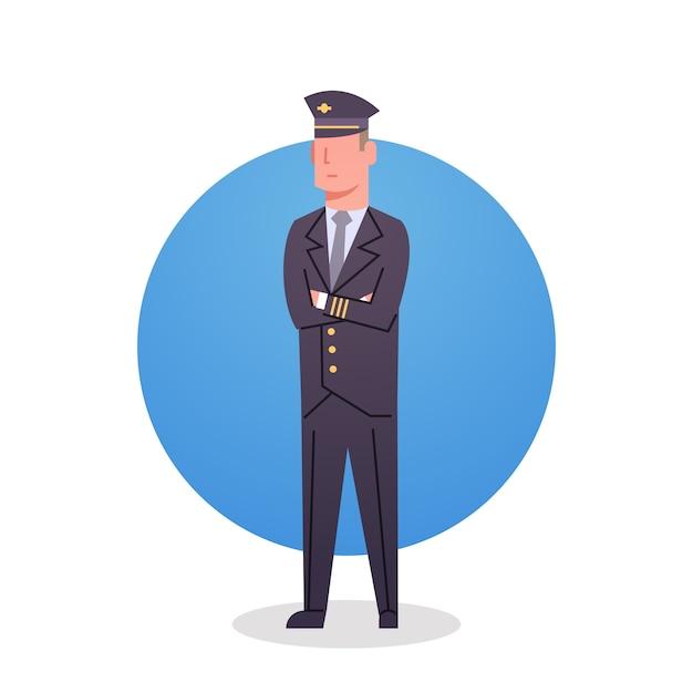 Pilot icon airport airline crew worker staff Premium Vector