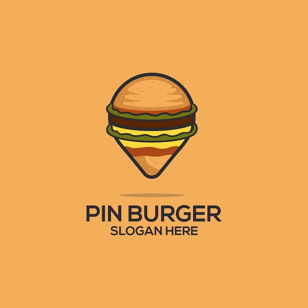 Pin burger Premiumベクター