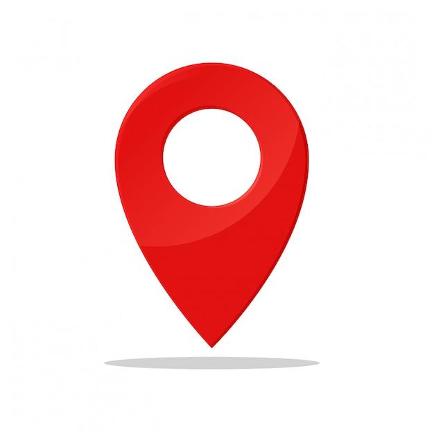 Символ булавки указывает местоположение карты gps. Premium векторы