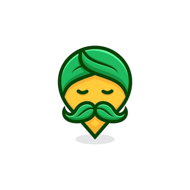 Природа pin гуру логотип концепцию. Premium векторы