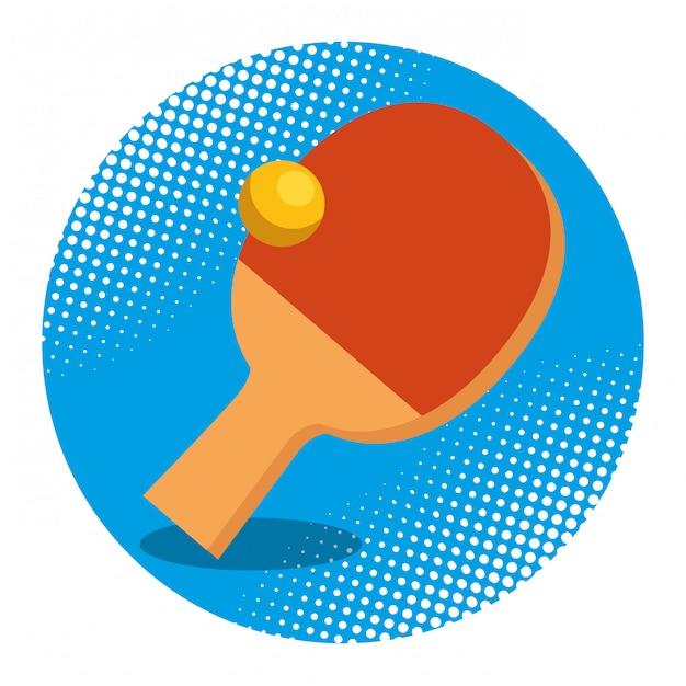 Ping pong racket and ball Free Vector