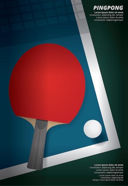 Pingpong poster template vector illustration Premium Vector