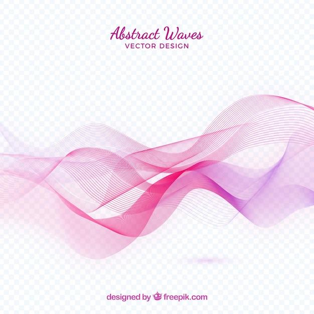 Pink abstrac waves Free Vector