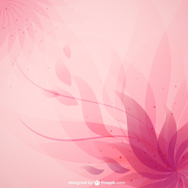 Pink abstract flower background Free Vector